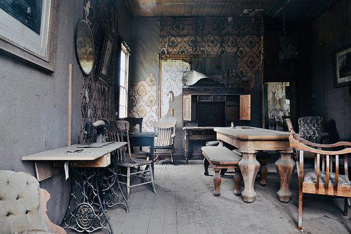 Leave, Home, Setup, Dusty, Old, Abandoned Place