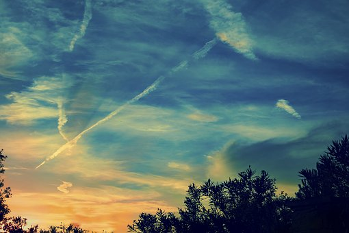 Sunset, Blue Sky, Clouds, Dramatic, Nature, Outdoor