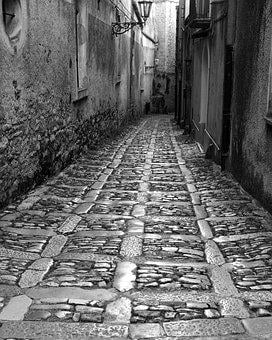 Away, Alley, Eng, Old, Old Town, Paved, Stone, Road