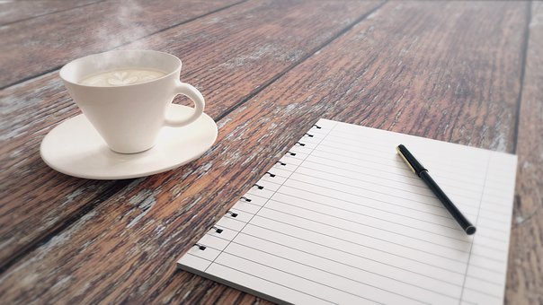 Writing, Coffee, Hot, Cup, Table, Work, Pen, Workplace