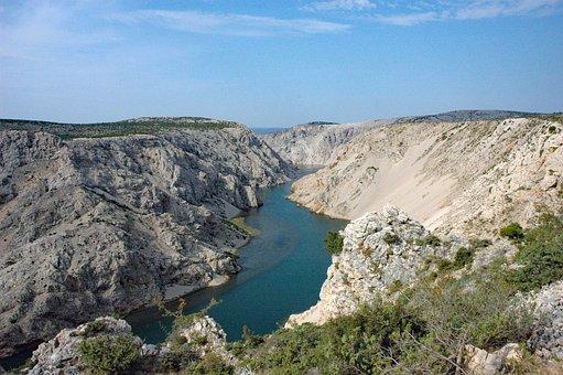 Croatia 2008, Dalmatia, River Zrmanja, Rock, Summer