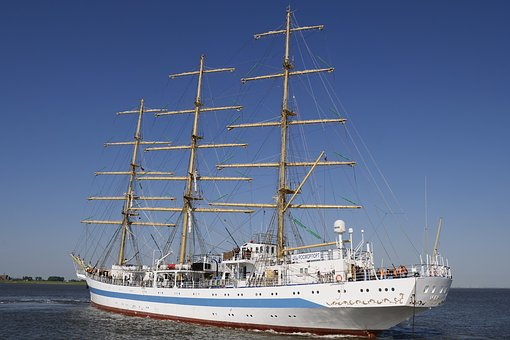 Shipping, Sail Training Ship, Sailing Vessel