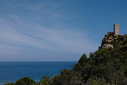 Sardinia, East Coast, Rock, Tower, Torre Delle Saline