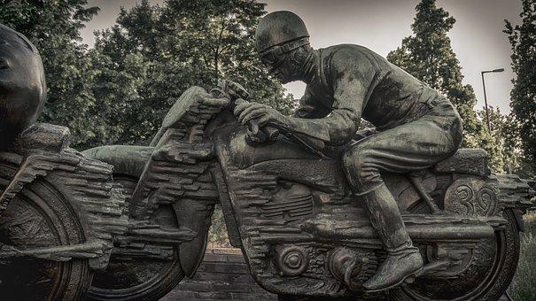 Sculpture, Race Car Driver, Motorsport, Motorcycle