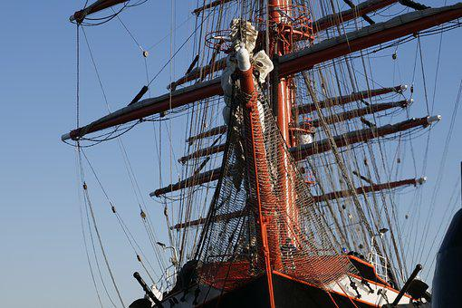 Shipping, Ship, Sail Training Ship, Sailing Vessel