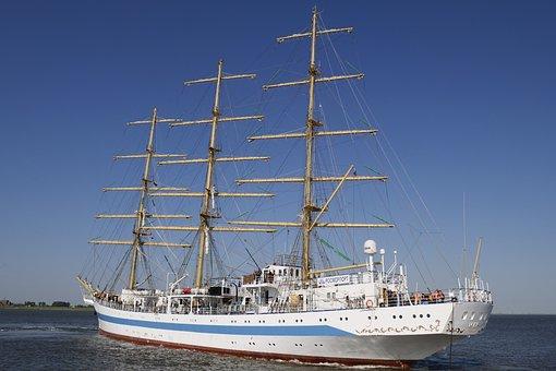 Shipping, Sail Training Ship, Sailing Vessel