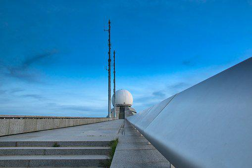 Radar Station, Stairs, Radar, Sky, Air Traffic Control