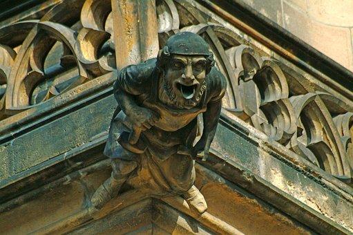 Prague, Gargoyle, Statue, Stone, Old Town, Buildings