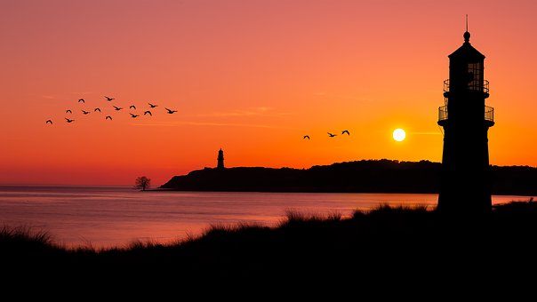 Landscape, Sunset, Nature