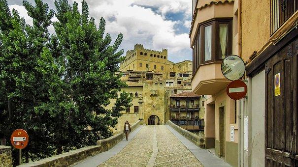 Vallderrobres, People, Tourism, Village, Spain, Places