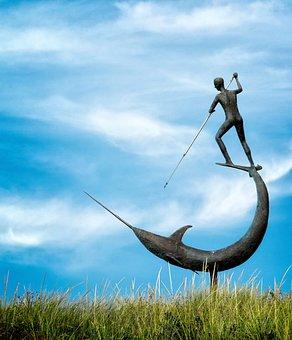 Menemsha, Martha's Vineyard, Statue, Whaling