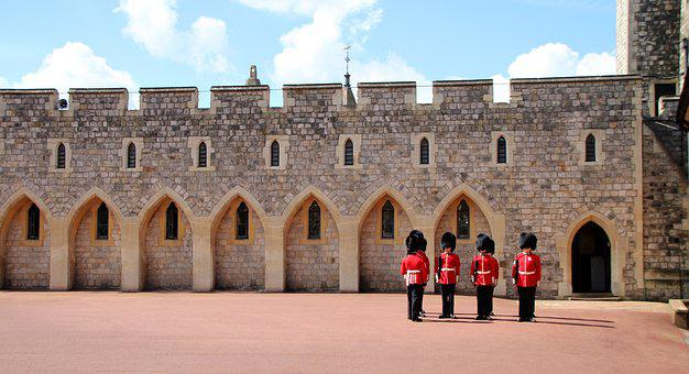 Guard, England, Soldier, Castle, Windsor, Beefeater