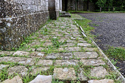 Pavement, Ancient, Old, Ruins