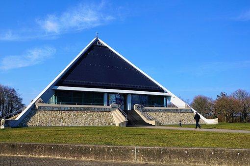 Baden Baden, Chapel, Church, Highway, Triangle, Modern