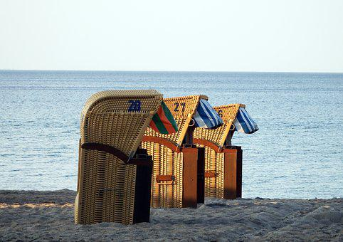 Beach Chair, Baltic Sea, Water, Holiday, Sea