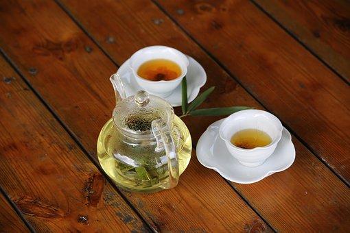 Bamboo Car, Teacup, Porcelain, Kettle, Coffee, Tee