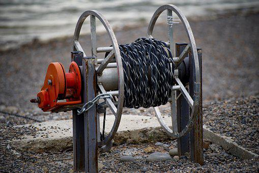 Cable, Cord, Rope, Rewinder, Spool, Manual, Boat, Beach