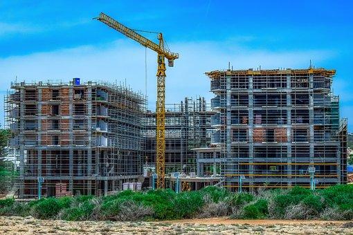 Construction Site, Building, Building Construction
