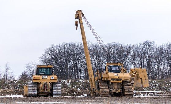 Heavy Equipment, Bull Dozer, Bulldozer, Construction