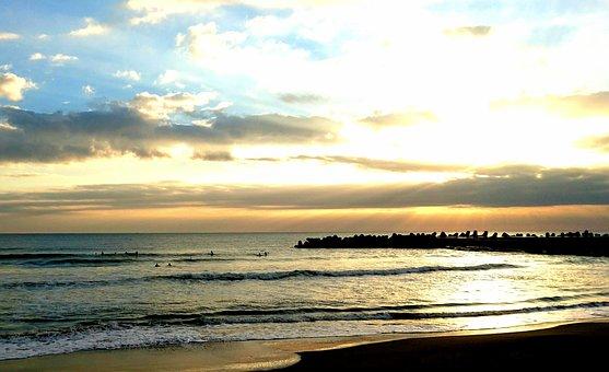 Sea, Asahi, Japan, Chiba, Pacific, Light, Sun