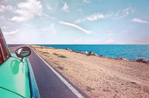 Cuba, Oldtimer, Auto, Beach, Coast, Classic, Automotive