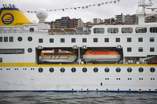Ship, Emergency, Coastline, Port, Beach, Passenger