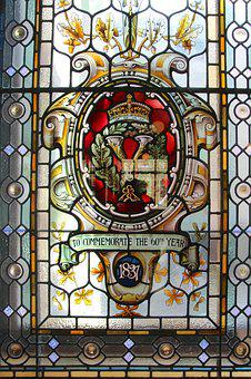 Commemorate, Window, Glass, Old, 60th, 1831, Colorful