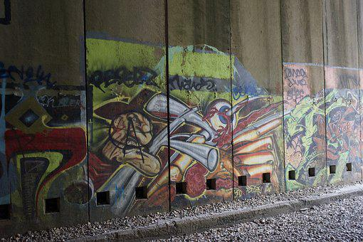Graffiti, Art, Donor Pass, Train Tunnel, Freddy Kreuger