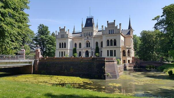Evenburg, Castle, Building, Water, East Frisia, Summer