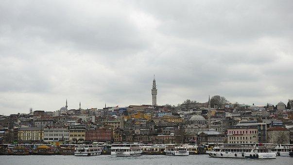 Istanbul, Estuary, Throat, Sultanahmet, Townscape