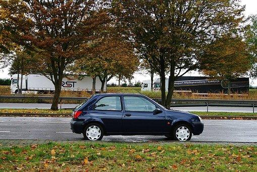 Autumn, Auto, Fort, Automotive, Fiesta, Blue