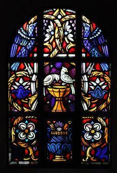 Church Window, Dove, Birds, Church, Glass Window