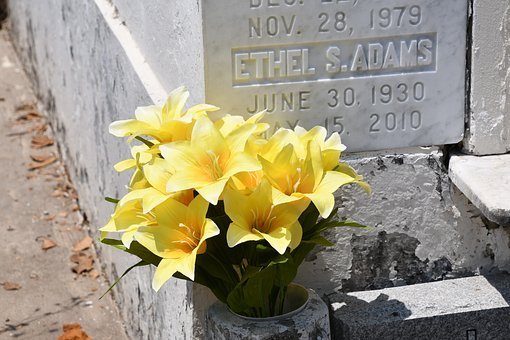 Flowers, Memorial, Grave, Nola, New Orleans
