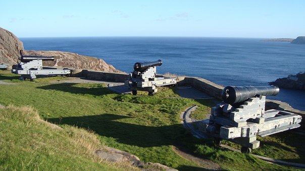 Cannon, Gun, Signal Hill, Newfoundland, Historic