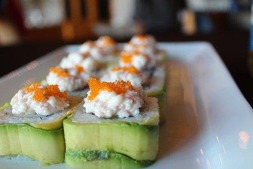 Sushi, Avocado, Japan, Japanese, Salmon, Fish