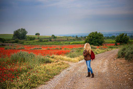 Path, Girl, Landscape, Nature, Walking, Spain, Trees