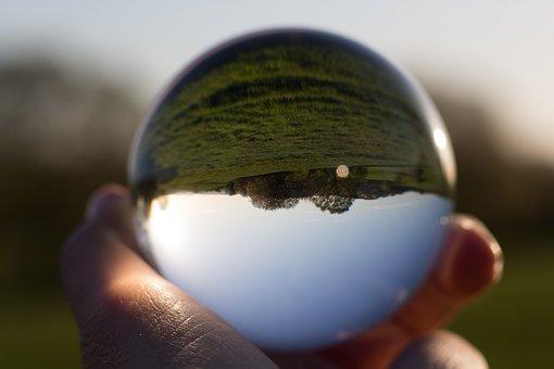 Glass Ball, Landscape, Ball, Globe Image, Glass