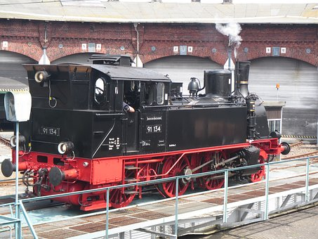 Pasewalk, Steam Locomotive, Railway, Locomotive, Loco