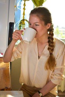Morning, Girl, Tea, Early Morning, Beauty, House