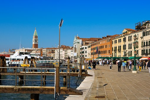 Venice, Summer, Italy, Channel, Water, Homes, Old Town