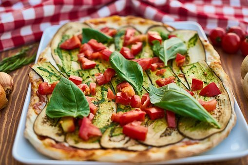 Pizza, Pepper, Dough, Vegetable, Green, Tomato, Sauce