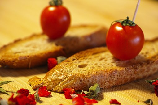 Tomato, Red, Bread, Snack, Fried, Freshness, Food