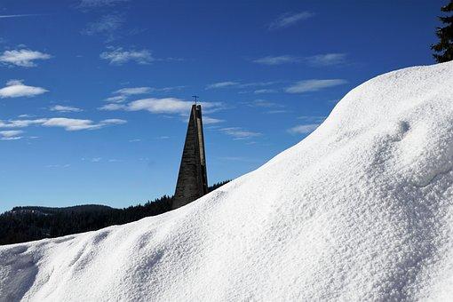 Feldberg, Church, Religion, Black Forest, Clouds, View