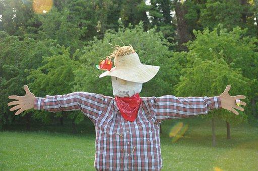 Scarecrow, Green, Children, Nature, Green Color, Garden