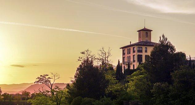 Landscape, Alba, House, Sky, Sun, Shadows, Dusk, Light