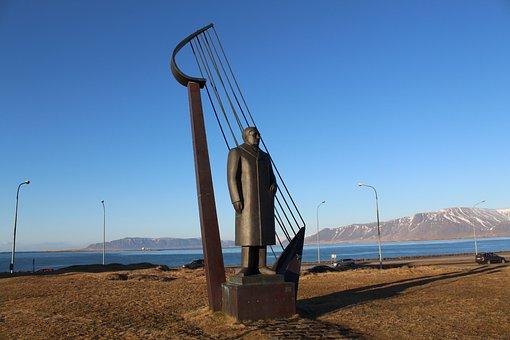 Iceland, Statue, Monument, Sculpture, Tourism