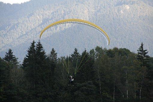 Tandem Jump, Paragliding, Tandem Flight, Jump