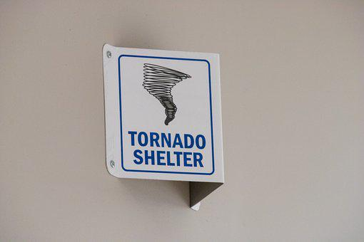 Tornado Warning, Tornado Shelter, Tornado, Danger, Sign