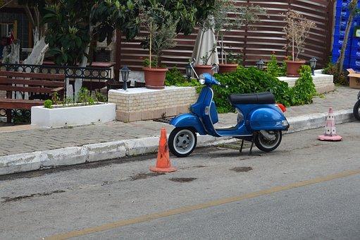 Vespa, Motorcycle, Scooter, Motor, Transportation