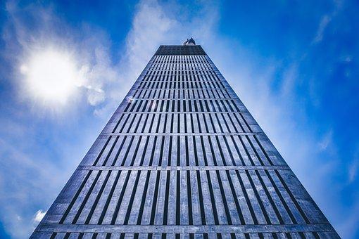 Tower, Sun, Sky, Architecture, City, High, Urban